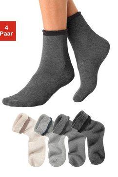 lavana wellness-sokken (set van 4 paar) multicolor