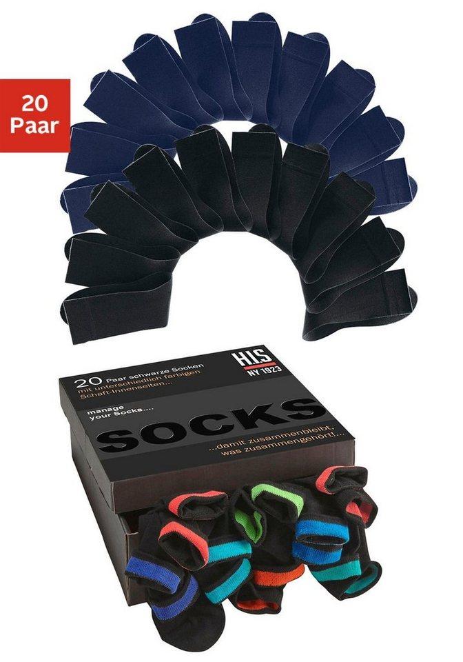 H.I.S sokken (set van 20 paar)