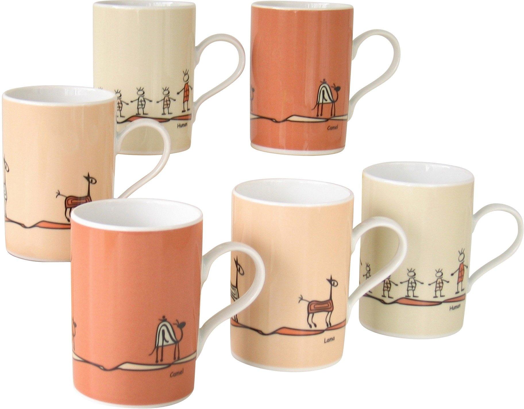 CreaTable koffiebeker, porselein, 6 delen, »ROMA NATURE« in de webshop van OTTO kopen