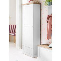 home affaire kledingkast binz in een mooie hout-look, met vele opbergmogelijkheden, hoogte 180 cm wit