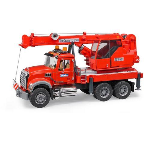 BRUDER® speelgoedauto met beweegbare kraan, »MACK Granite KranLKW met licht & geluid modules, schaal 1:16«