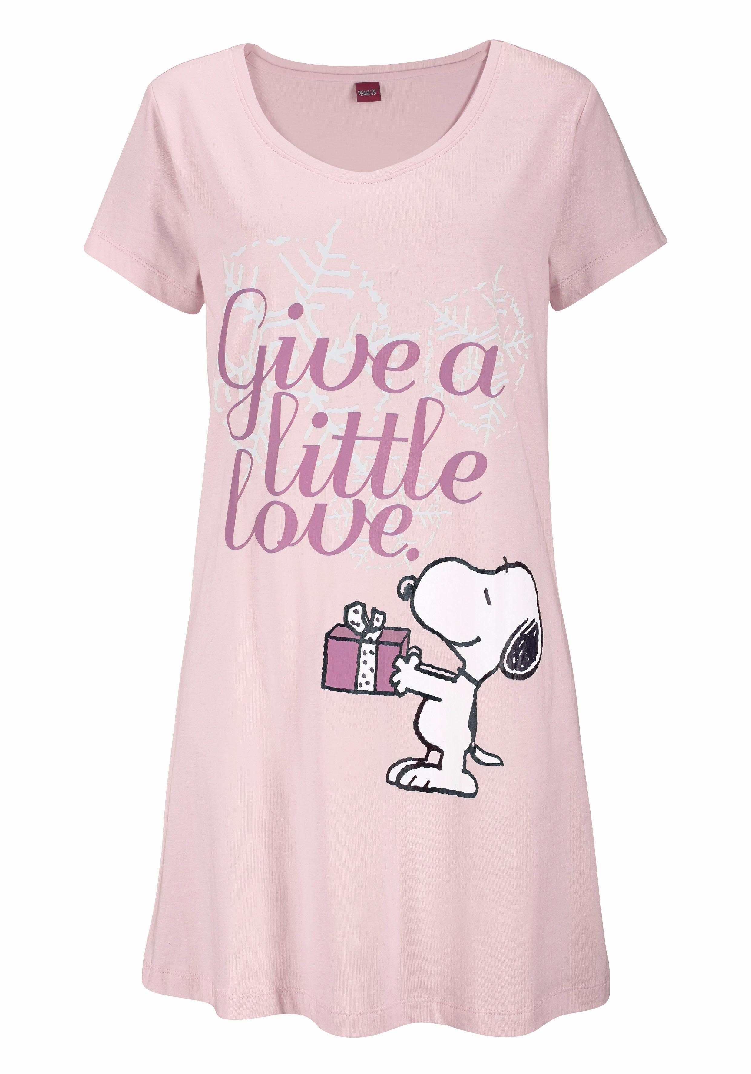 Big Vind In Met Mini Leuk Peanuts Lengte Snoopyprint BijOtto Shirt Je dorCBWxe