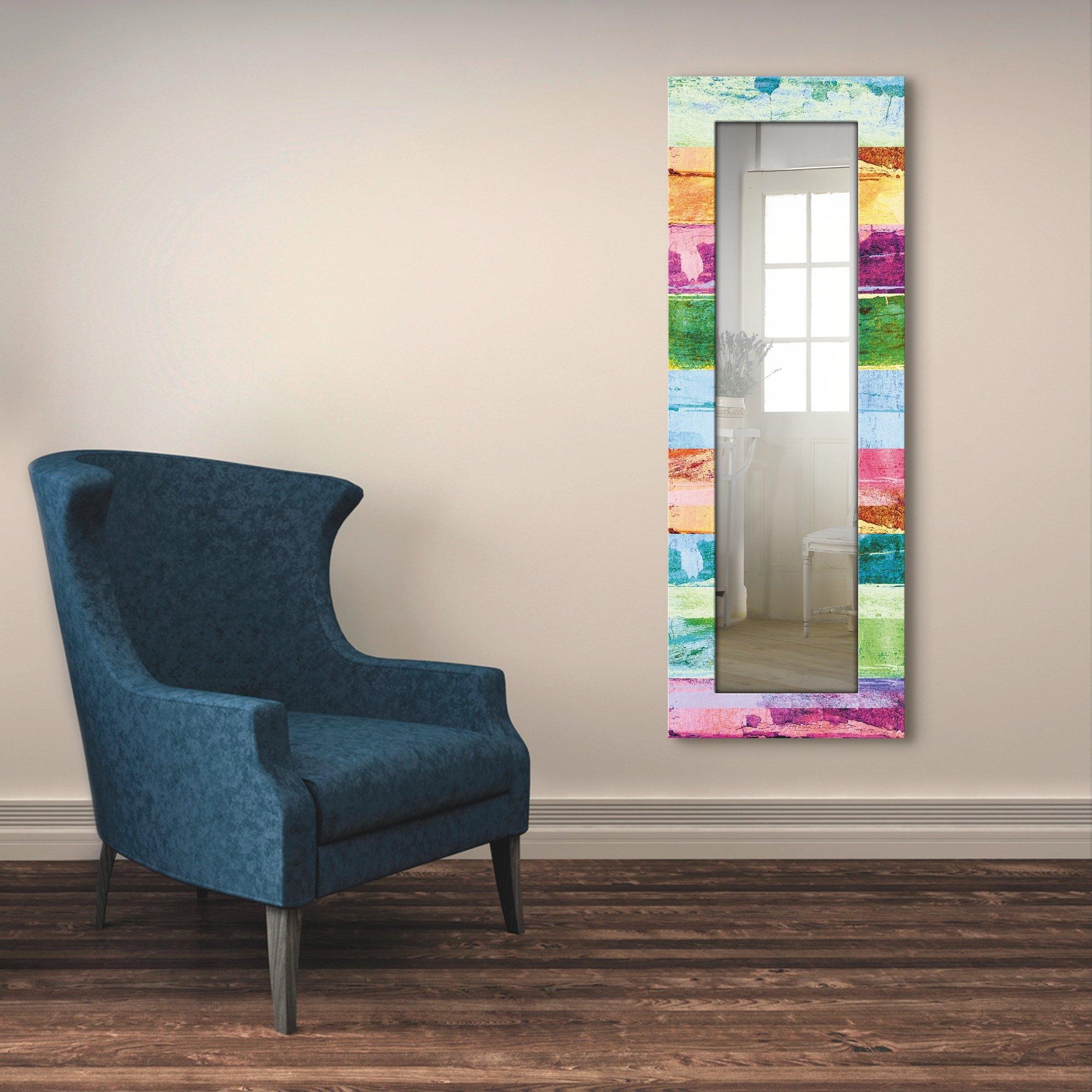 Artland wandspiegel Gekleurde houten achtergrond ingelijste spiegel voor het hele lichaam met motiefrand, geschikt voor kleine, smalle hal, halspiegel, mirror spiegel omrand om op te hangen online kopen op otto.nl