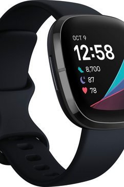 fitbit »sense« smartwatch grijs
