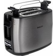 philips toaster hd2628-80 viva collection met 2 roostersleuven, titanium zilver
