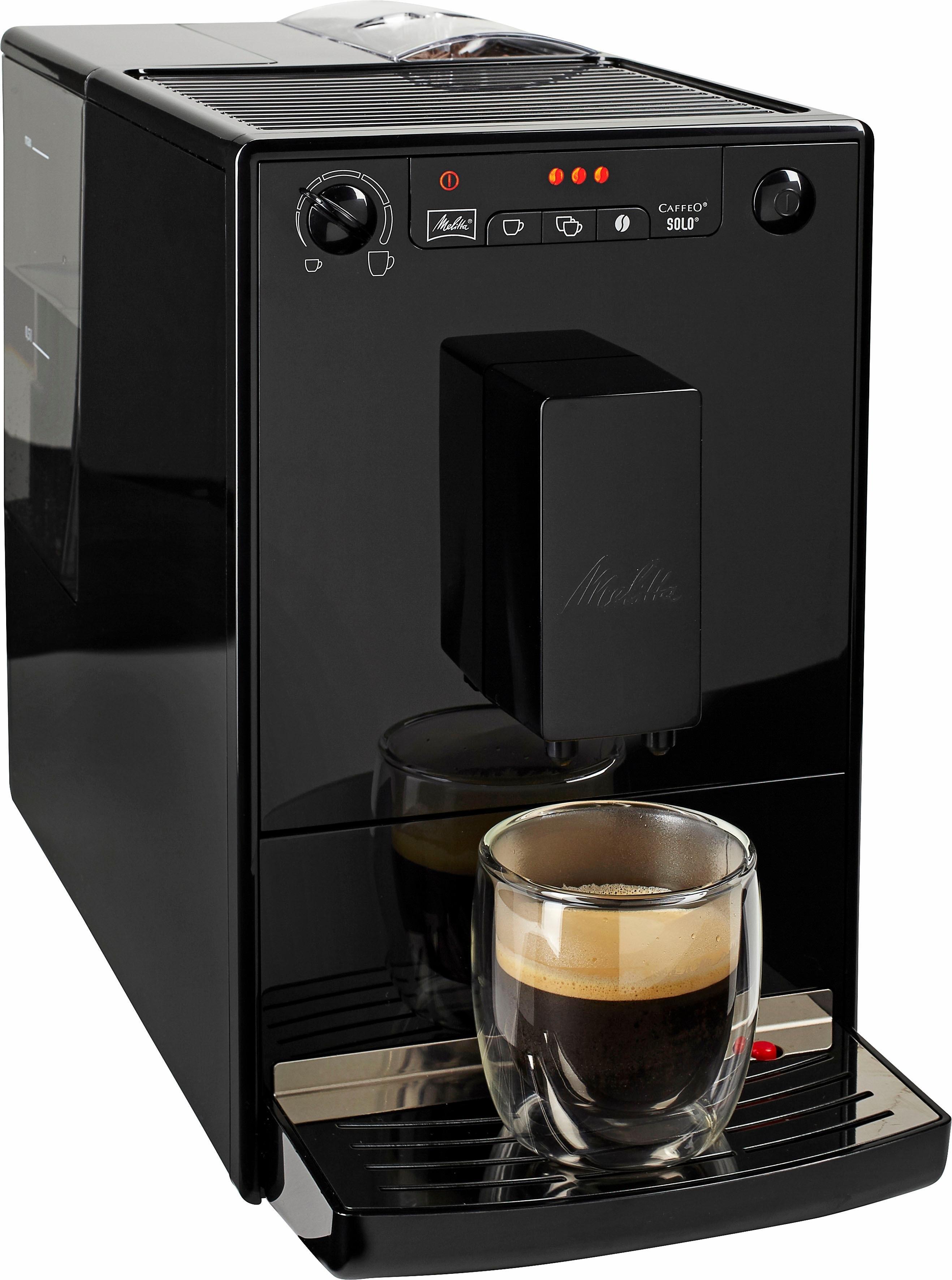 Melitta volautomatisch koffiezetapparaat Caffeo Solo Pure Black E 950-222, zwart - gratis ruilen op otto.nl