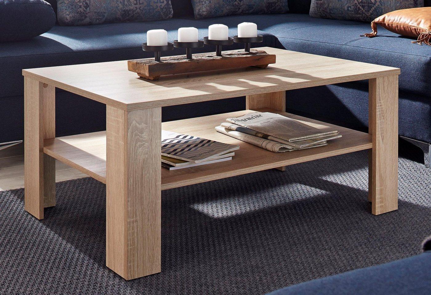 Salontafel met praktische plank