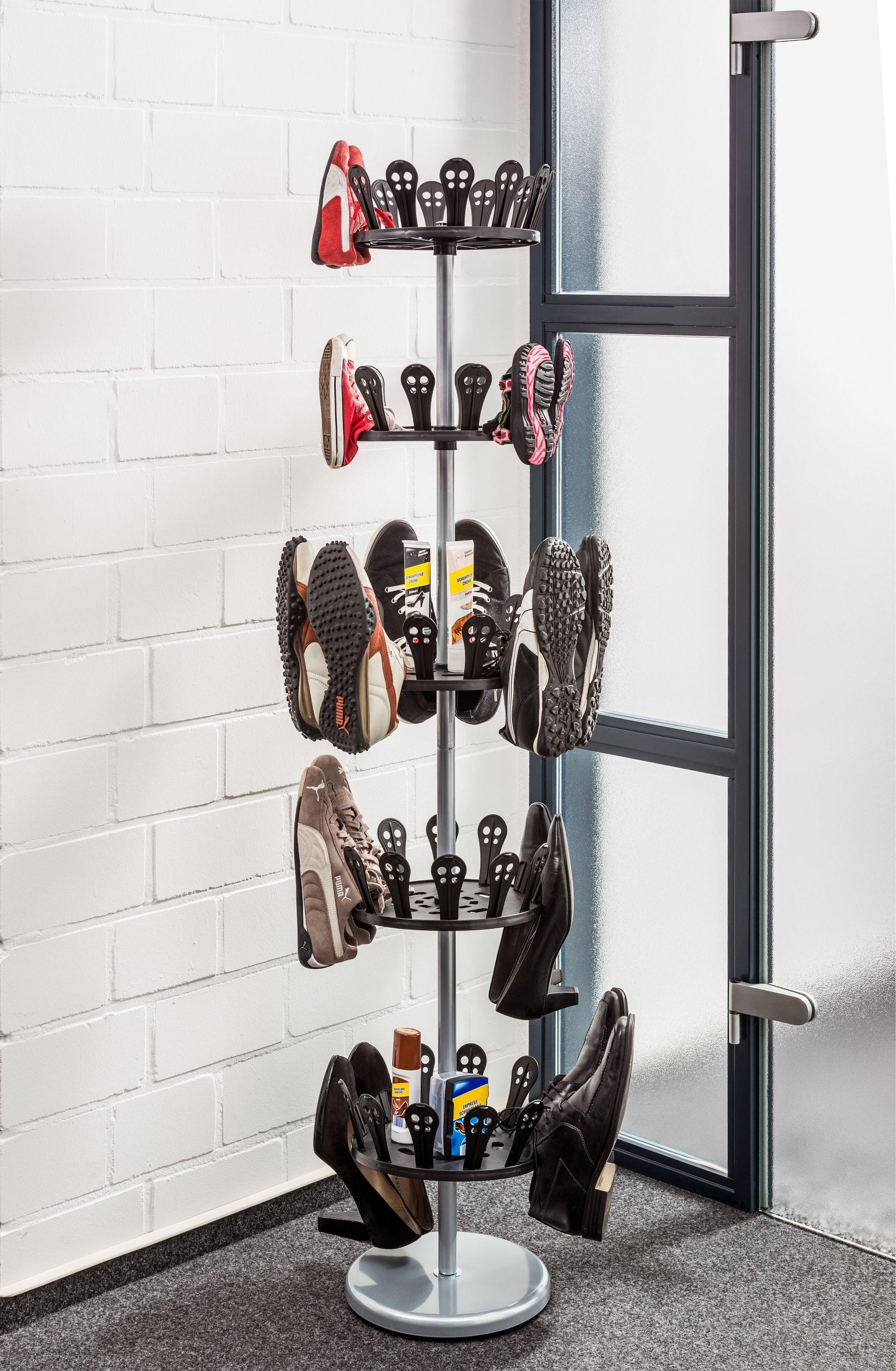 Maximex schoenencarrousel, 5 schoenenhouders, 30 paar schoenen - verschillende betaalmethodes