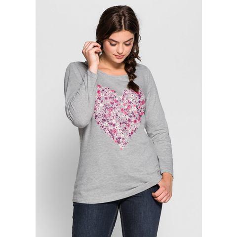 NU 15% KORTING: SHEEGO CASUAL shirt met lange mouwen en hartjesprint