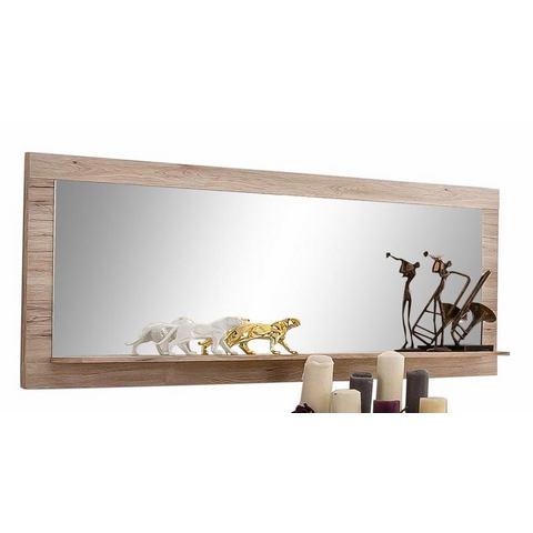 Wandspiegel met legplank
