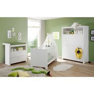 complete babykamerset trend bed + commode + 3-deurs kast (set, 3-delig) wit