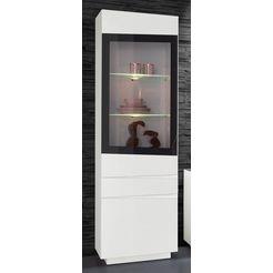steinhoff vitrinekast, hoogte 202 cm wit