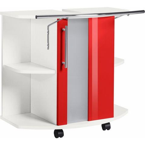 KESPER Wastafelonderkast Visby op rollers rode badkamer onderkast 170