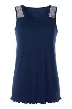 création l shirttop met pailletten blauw
