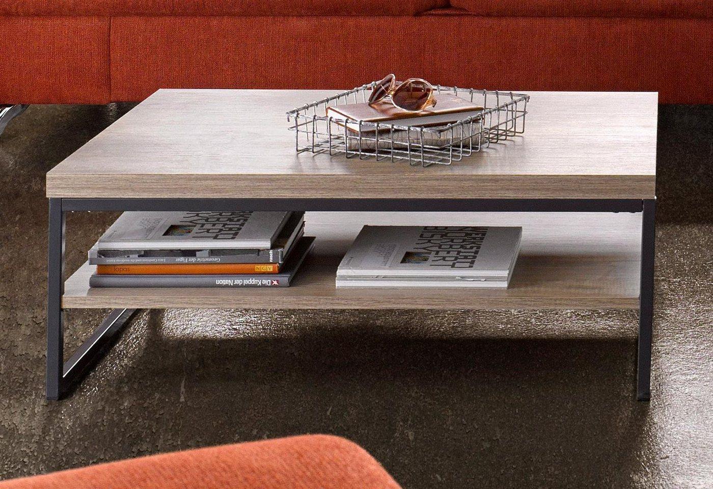 Moderne salontafel met praktische plank