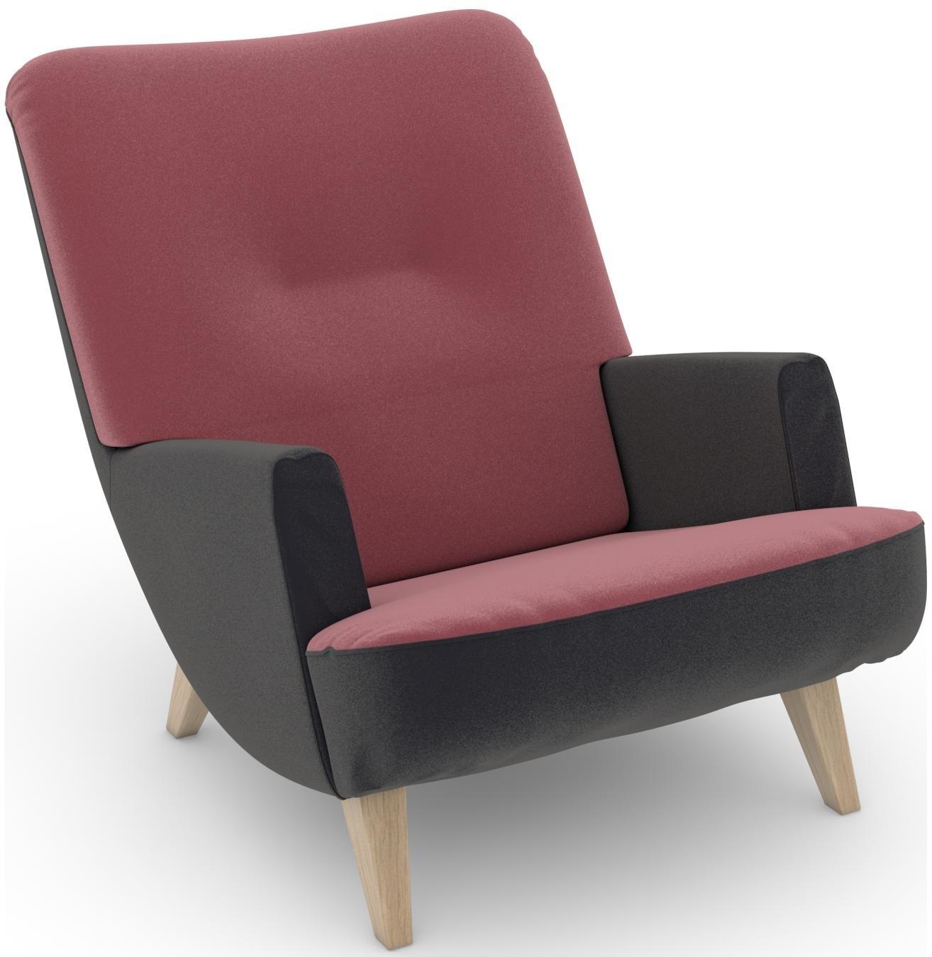 Max Winzer ® build-a-chair loungefauteuil »Borano« in retro-look, om zelf te stylen - gratis ruilen op otto.nl