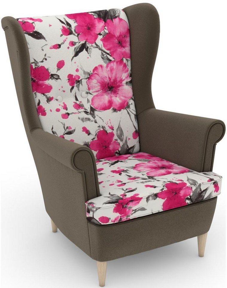 MAX WINZER® build-a-chair oorfauteuil Casimir in Winchester-look, om zelf te stylen