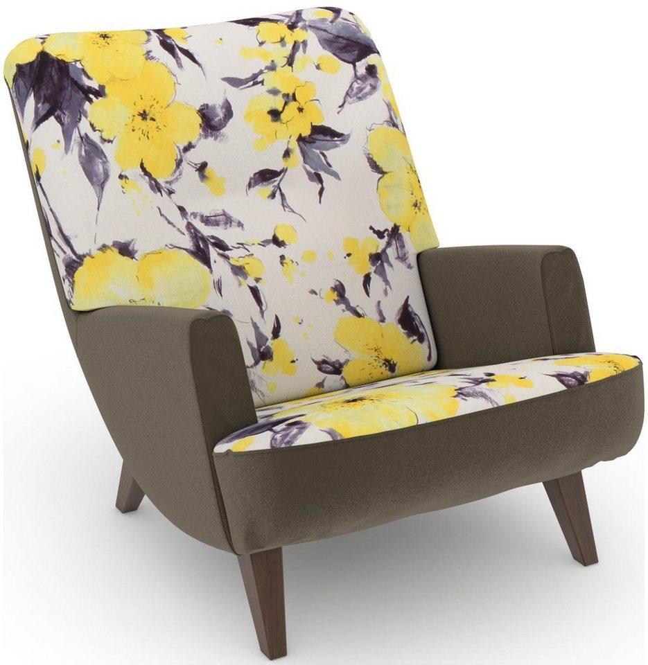 MAX WINZER® build-a-chair loungefauteuil Borano in retro-look, om zelf te stylen