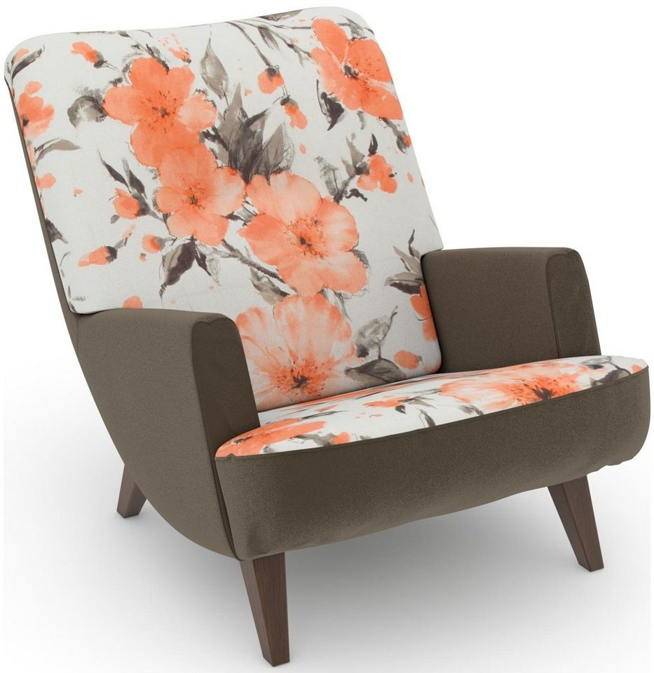 MAX WINZER® build-a-chair loungefauteuil Borano in retro-look, om zelf te stylen