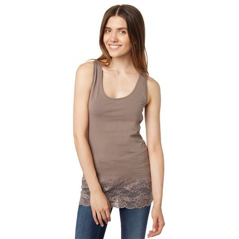 TOM TAILOR T-shirt »lace longtop«