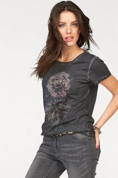 aniston casual t-shirt met oil-dyed-wassing grijs