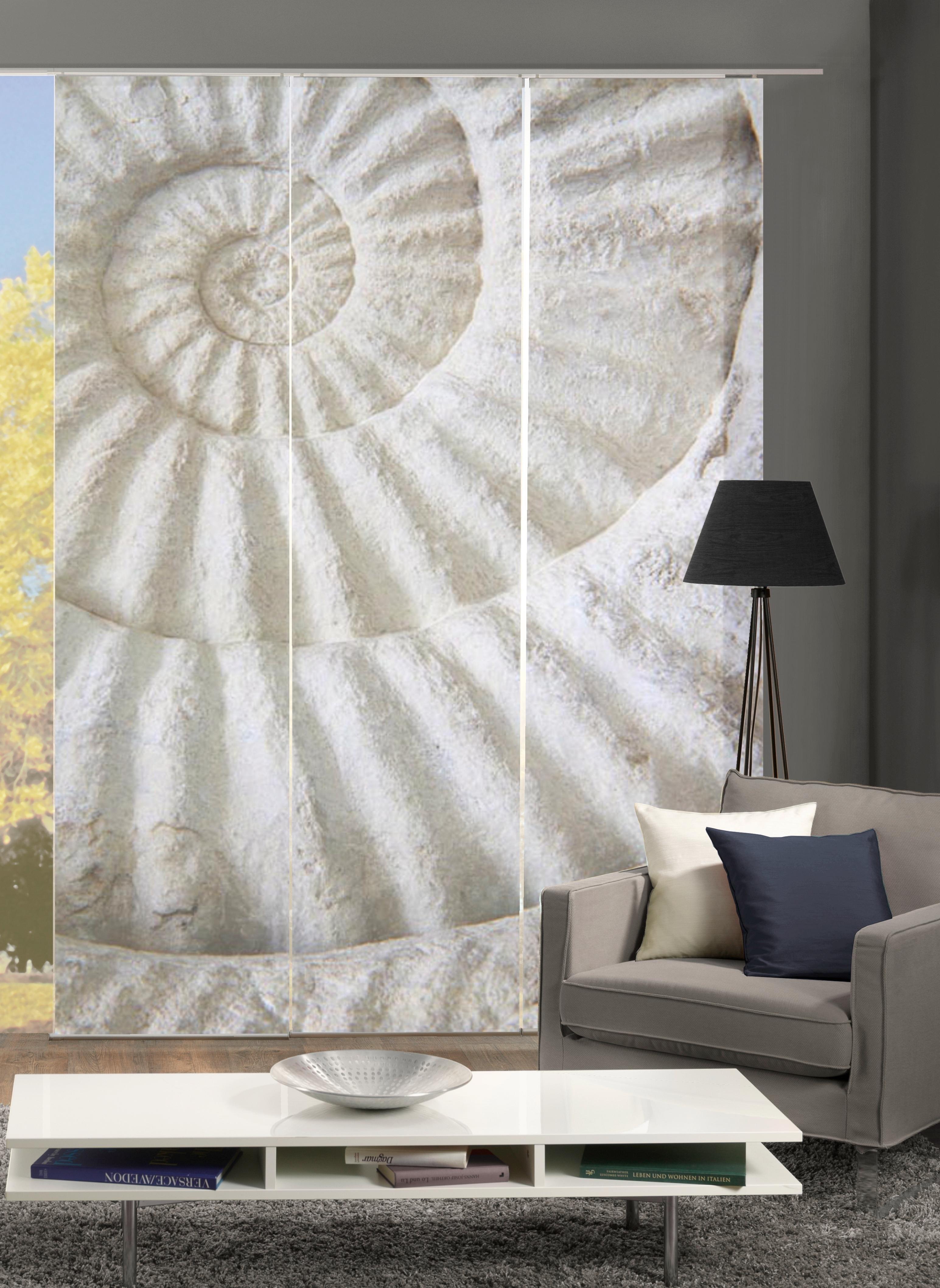 paneelgordijn home wohnideen schelp set van 3 met. Black Bedroom Furniture Sets. Home Design Ideas