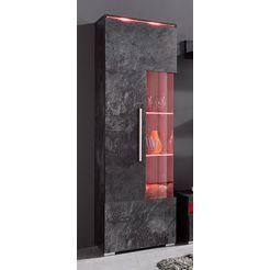vitrinekast, hoogte 160 cm zwart