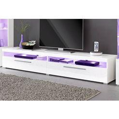 tv-meubel, breedte 200 cm wit