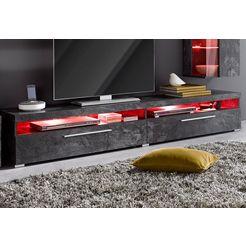 tv-meubel, breedte 200 cm zwart