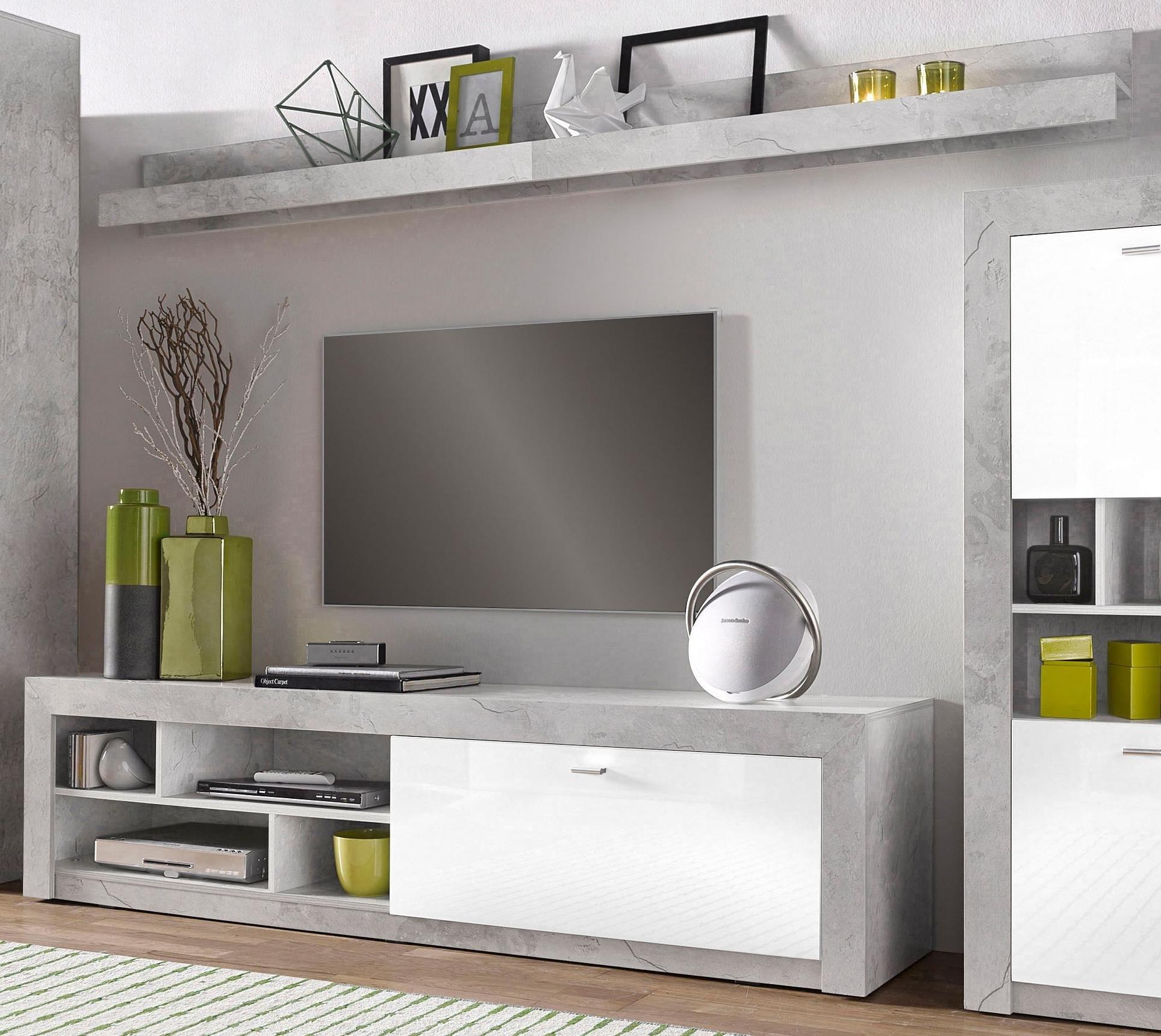 lowboard met wandpaneel breedte 200 cm online verkrijgbaar otto. Black Bedroom Furniture Sets. Home Design Ideas