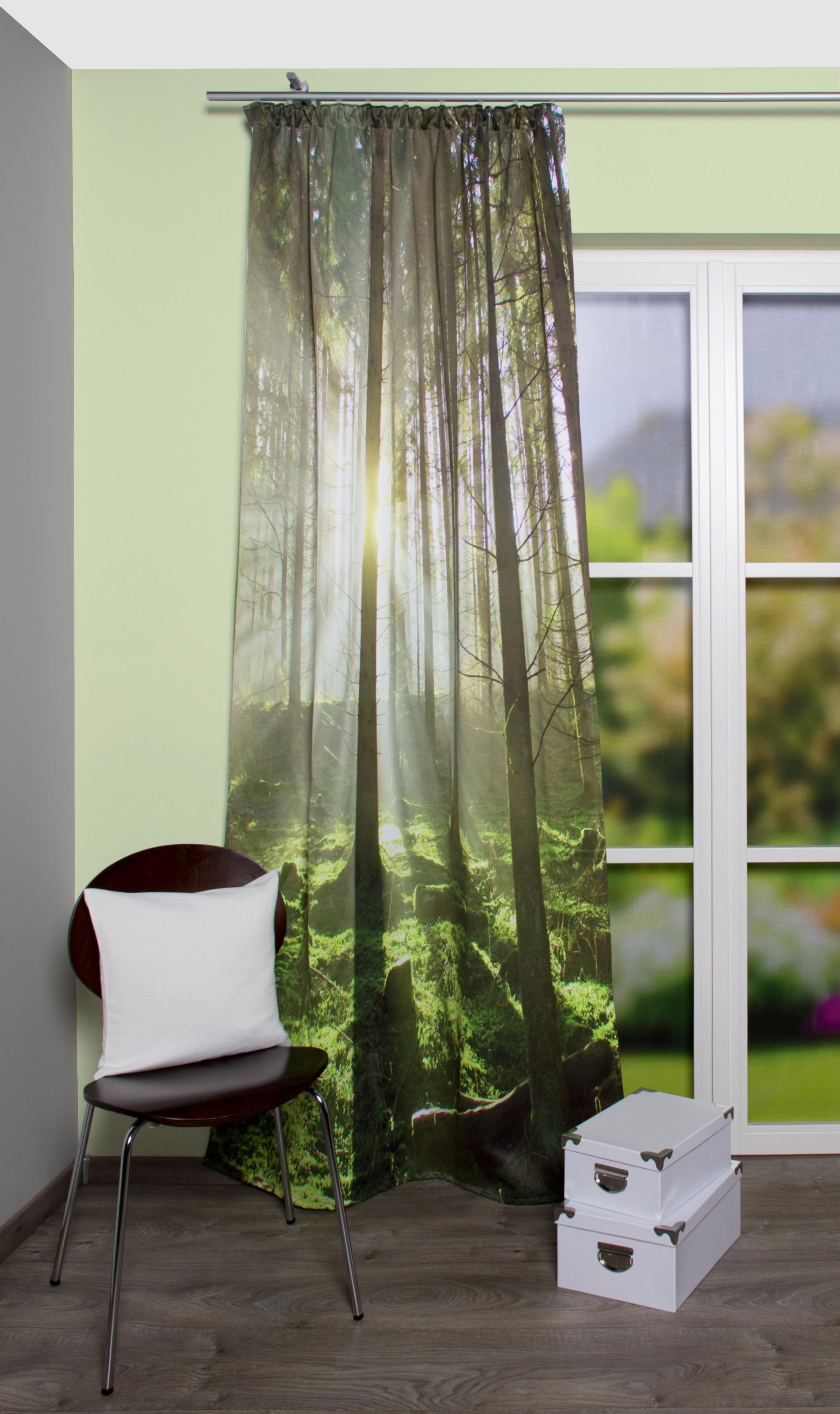 gordijn home wohnideen groen bos per stuk groen