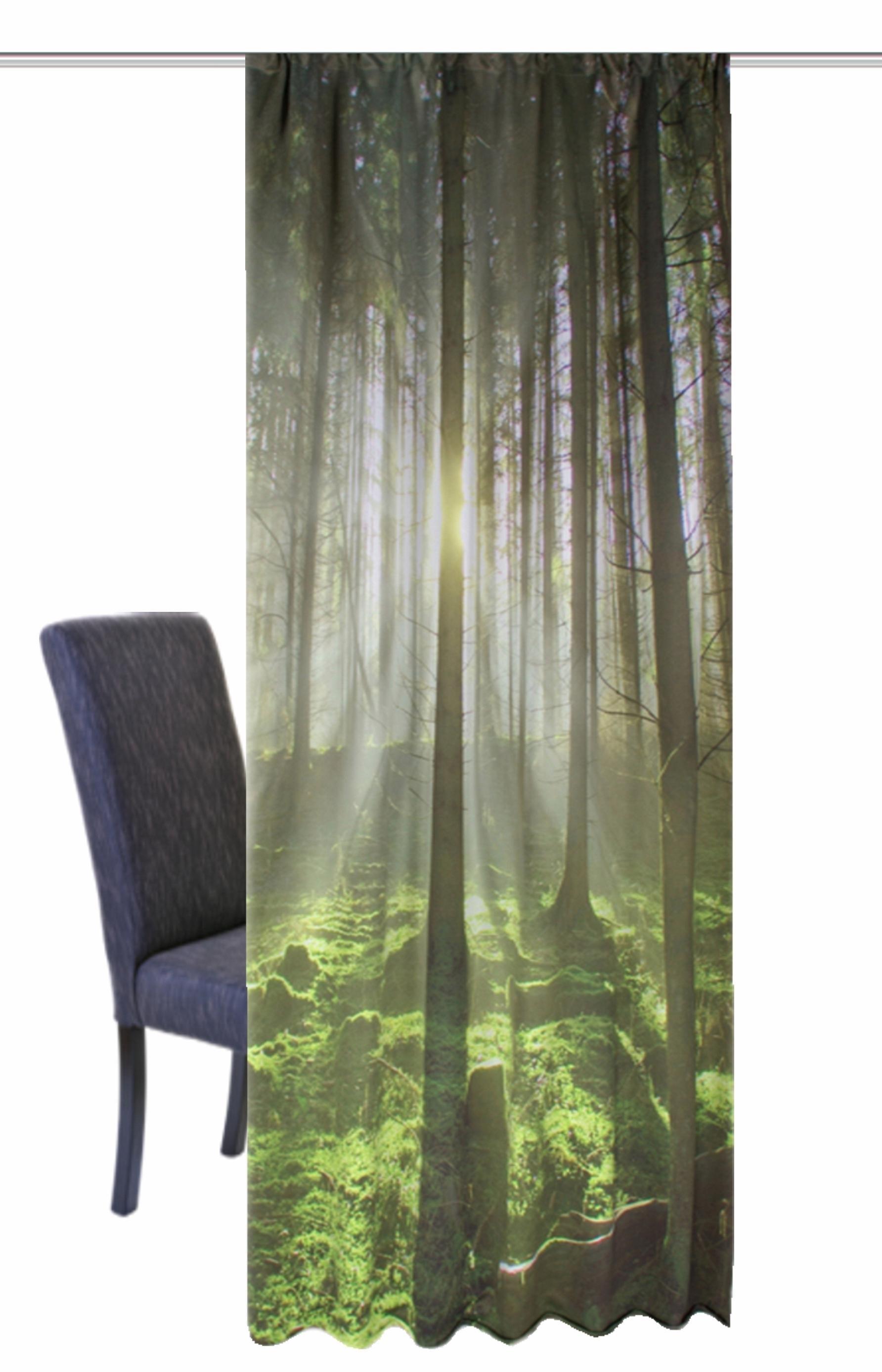 afbeeldingsbron gordijn home wohnideen groen bos per stuk