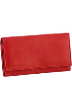 j.jayz portemonnee van zacht leer met drukknoopsluiting rood