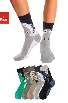 sokken met dierenmotieven (5 paar) multicolor