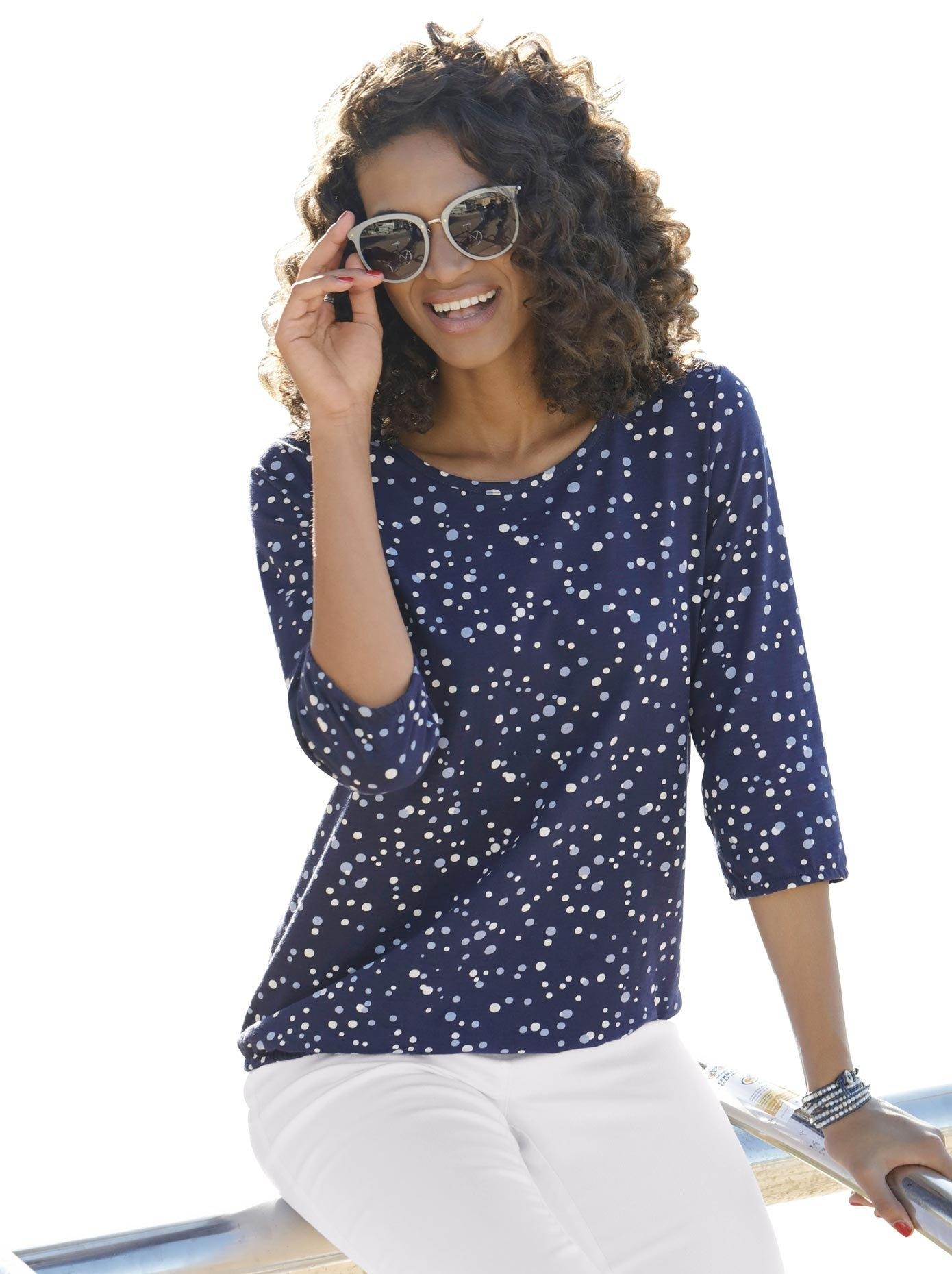 Classic Basics shirt met vlot stipdessin in de webshop van OTTO kopen