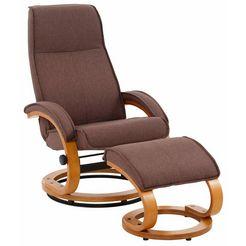 home affaire relaxfauteuil paris in verschillende bekleding- en kleurvarianten, zithoogte 46 cm (2-delig) bruin