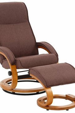 home affaire relaxfauteuil paris in verschillende bekleding- en kleurvarianten, zithoogte 46 cm (2 stuks) bruin