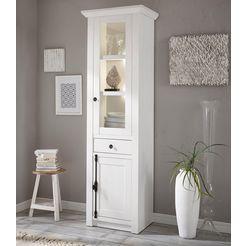 home affaire vitrinekast »california«, hoogte 207 cm wit