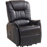duo collection relaxfauteuil xxl, met opstahulp, belastbaar tot 150 kg zwart