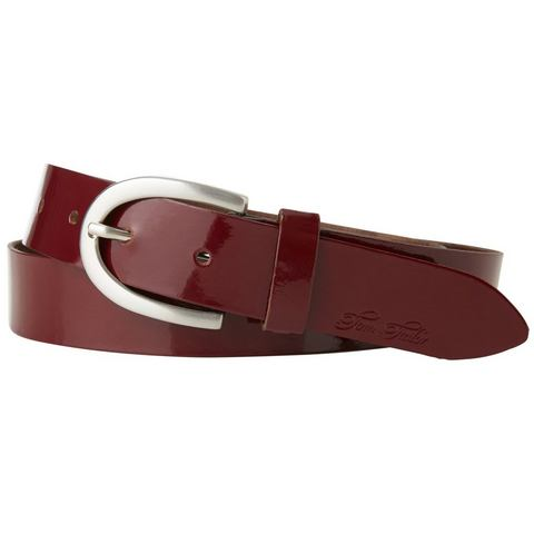 TOM TAILOR riem »leather belt in lacquer look«