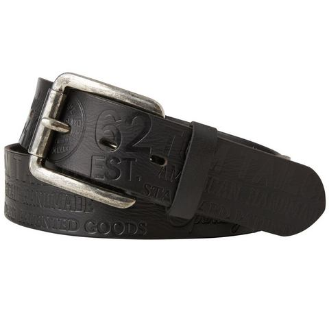 TOM TAILOR riem »leather belt with allover embossing«