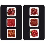 universele afdekplaat, wenko, 'chili', set van 2 rood