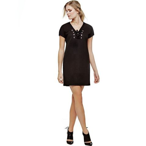 Picture GUESS jurk in stiksel-look zwart 540183