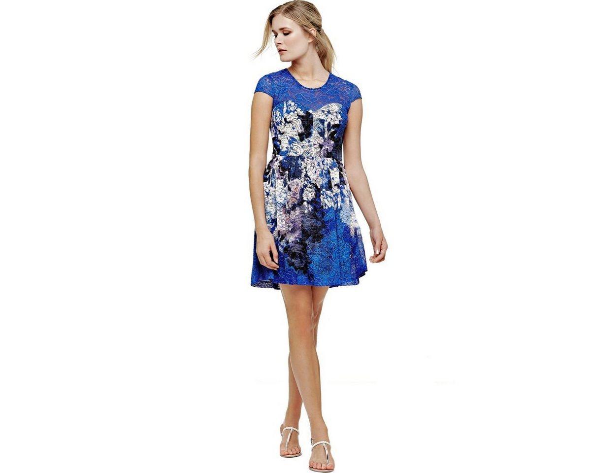 Guess gedessineerde kanten jurk blauw