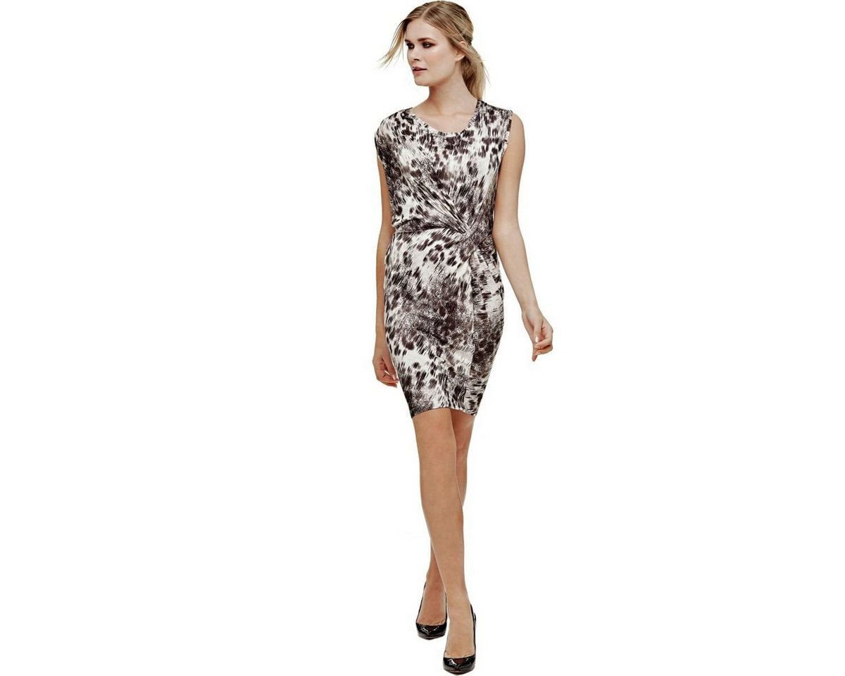 Guess jurk met knoopdetail multicolor