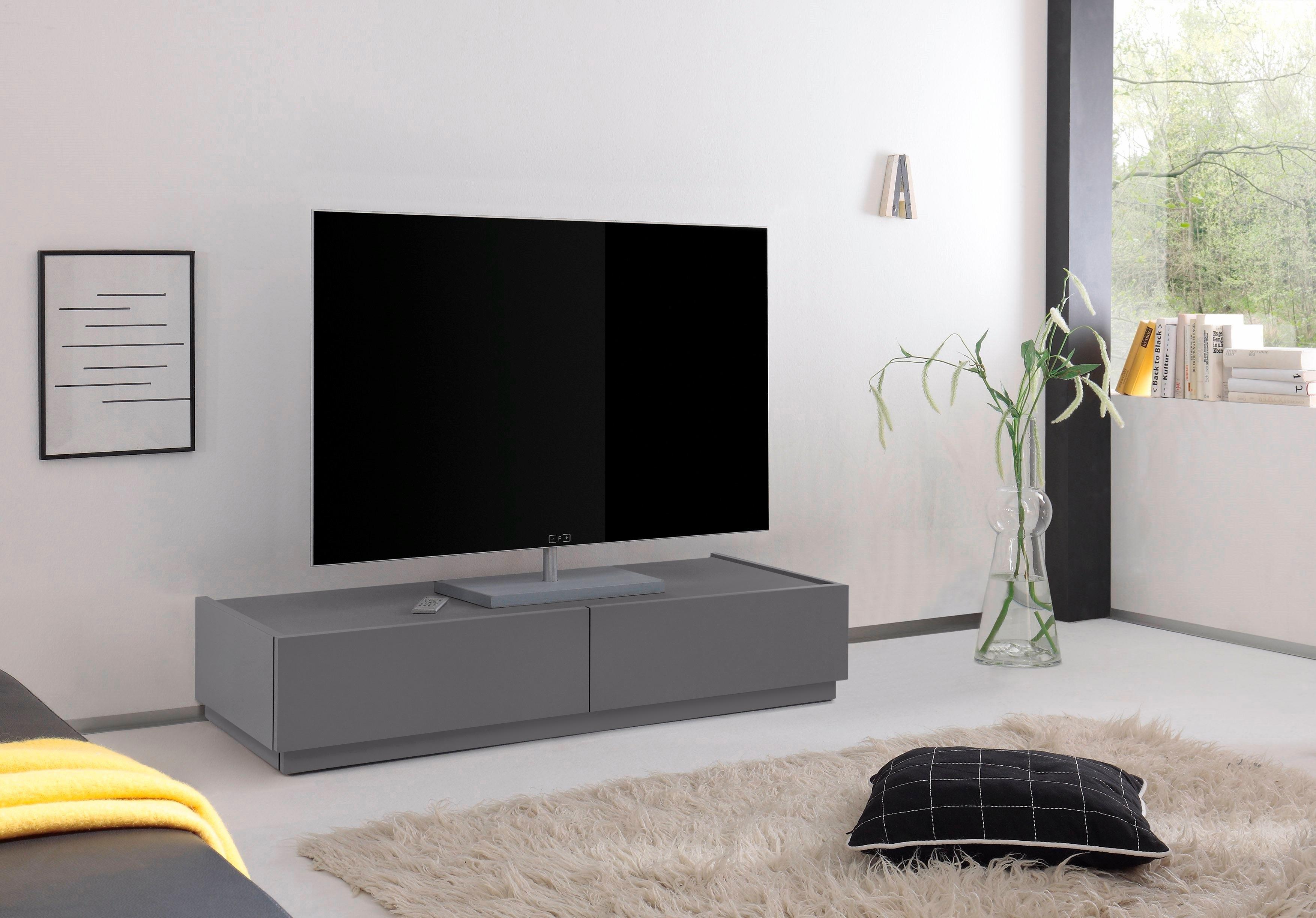 2 Tv Meubel.Tv Meubel Zela Met 2 Laden Breedte 123 Cm
