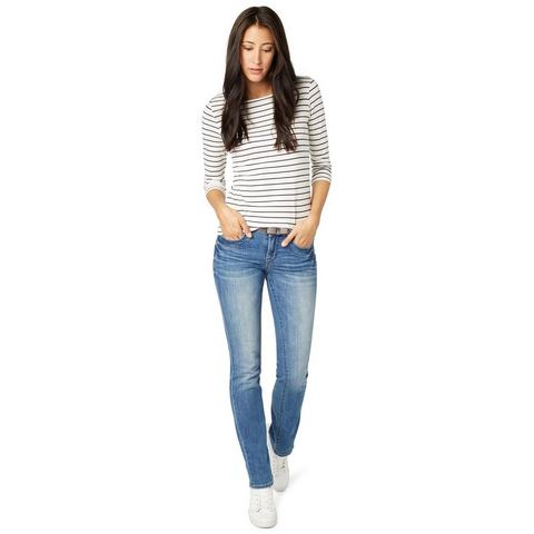 NU 20% KORTING: TOM TAILOR Jeans »straight Alexa with belt«