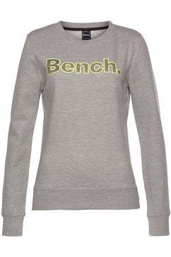 bench. sweater raina met contrast-logopatch grijs
