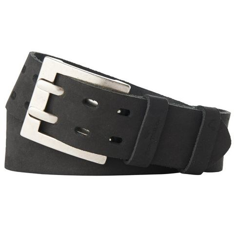 NU 20% KORTING: TOM TAILOR riem »leather belt with two prongs«