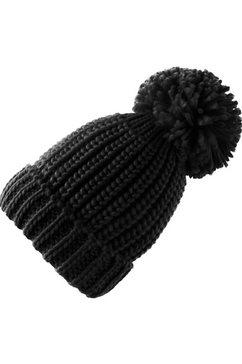 folkloremuts grofgebreid zwart